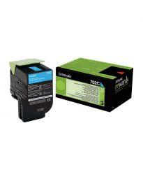 Тонер касетацветна Cyan Lexmark70C20C0